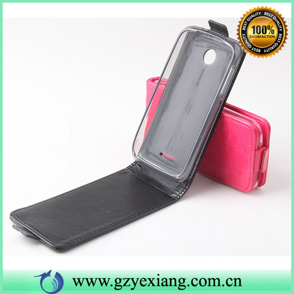 China cell phone case for Lenovo A390 pu leather flip case cover
