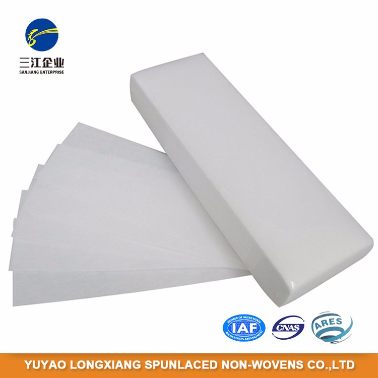 Body Care Depilation Polyster Disposable Wax Strips Roll For Body Hair Removing