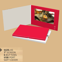 customized automtic Video Brochure Card for Christmas gift , 480*272 Pixel size