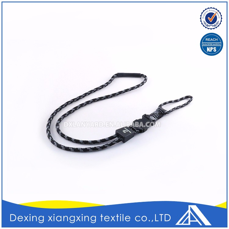Wholesale Polyester Adjustable Flexible Retractable Rope Neck Lanyard