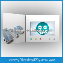 4.3inch lcd video greeting paper cards, video cards, video in print