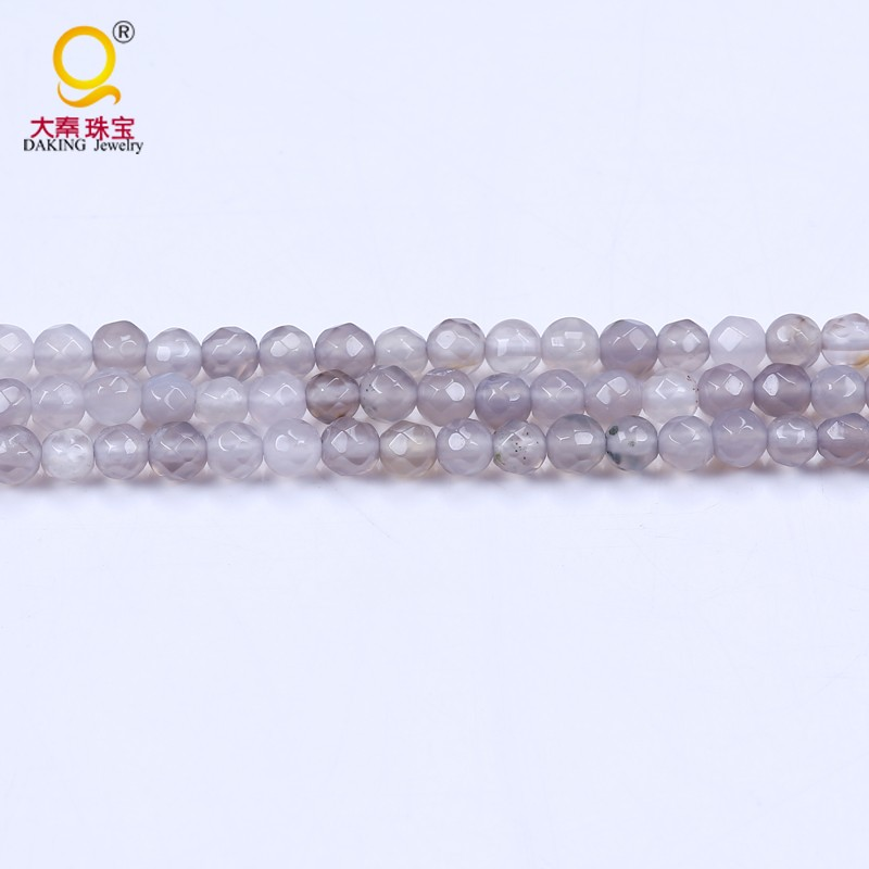 original 4mm faceted grey round faceted jade stone price