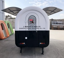 New model snack ice cream mobile food truck vending