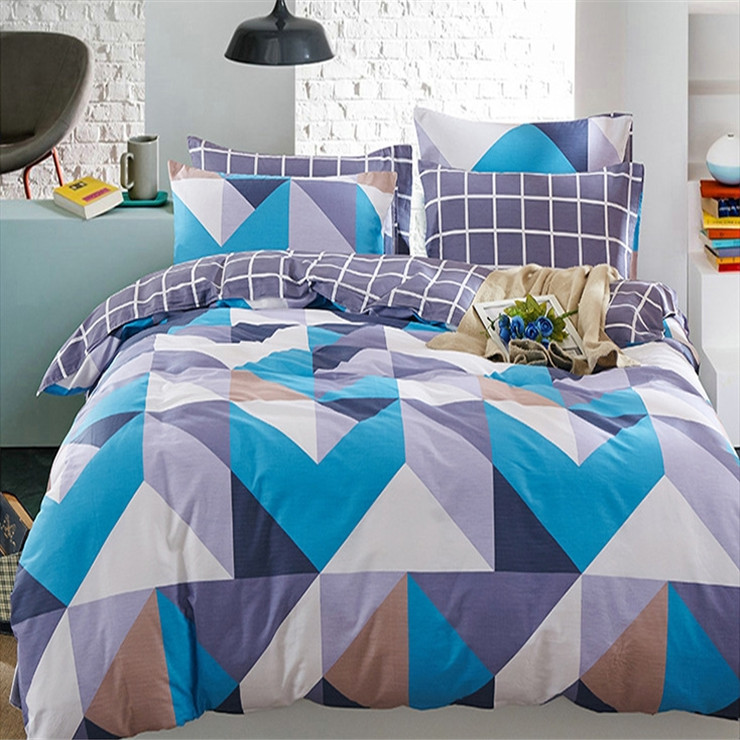 Bohr geometry simplicity design 100% polyester India high quality bed spread set home textile set manufacture product
