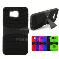 High quality hybrid combo hard kickstand case for Sony Xperia Z1S C6916