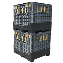 Inklapbare pallet containers opvouwbare plastic pallet opbergdozen