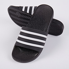 Classical design black and white color summer slippers for women