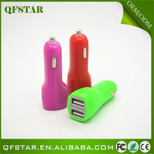 Hot sale colorful wireless 5v 1a cell phone car charger