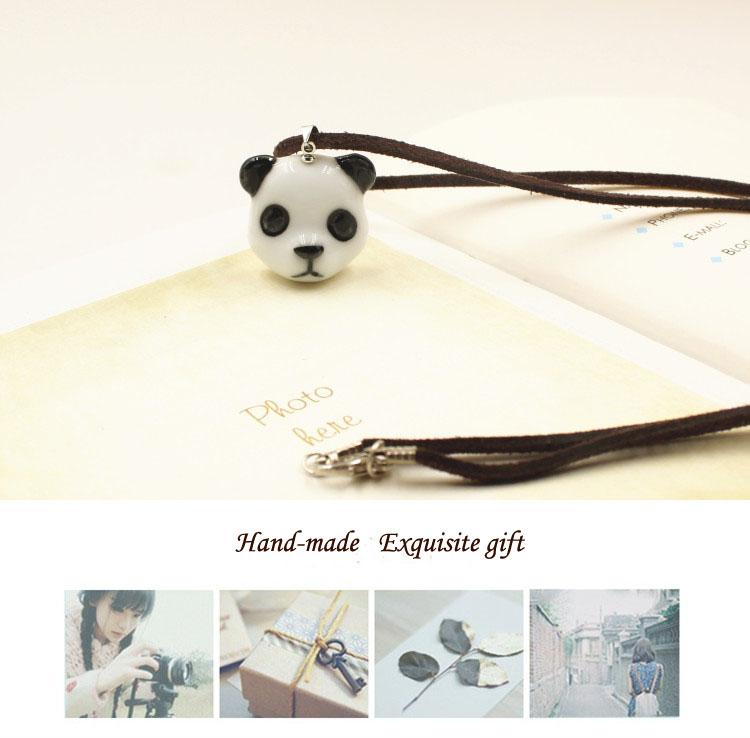 porcelain panda logo pendant wholesale likeable charm Christmas decoration accessory pendant