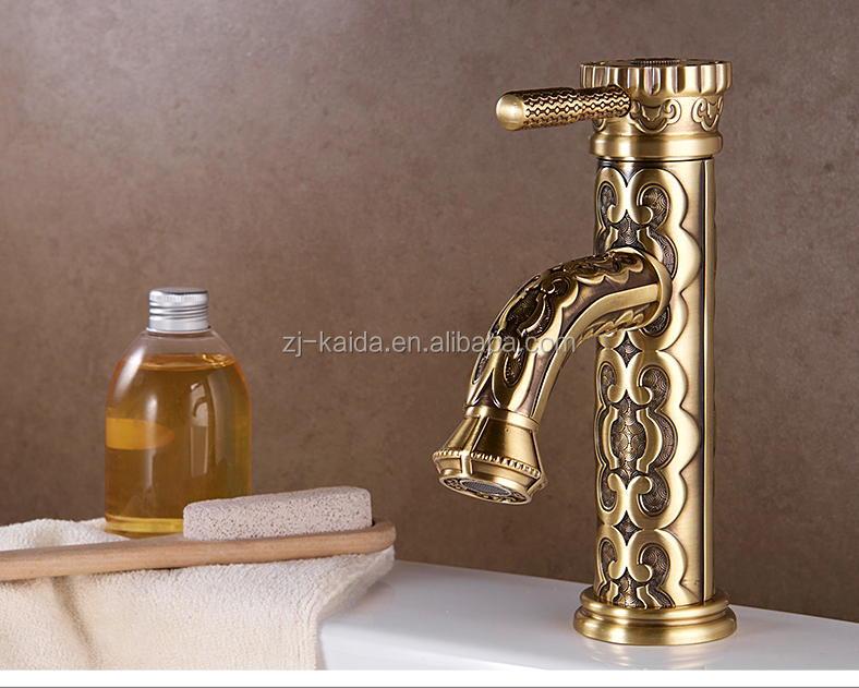 Antique Bronze/Gold/Oil Rubbed Bronze Effect Brass Wash Basin Mixer Faucet