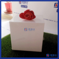 China supplier factory sale white decorative money donation box acrylic donation boxes with locks