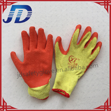 Latex coated knitted cotton safety work glove for building and gardening