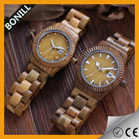 2016 The Newest Design Mix Color mens Waterproof Wooden Watch With Date