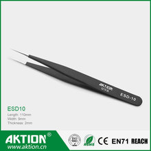Wholesale Swiss Quality ESD Anti-static Stainless steel Tweezers for computer repair tools