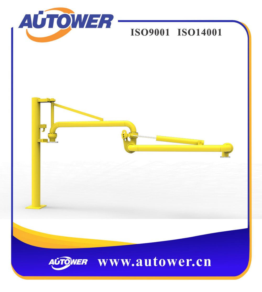 Security stability chemical tank truck caustic loading arm