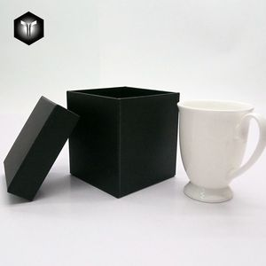 OEM Custom Gold Foil Cardboard Black Gift Box Packaging For Cup Glass Ceramics