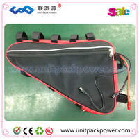 Great quality e-bike battery 36 volt lithium battery pack triangle style 36v 18ah battery