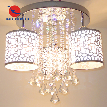 Top sale product remote-controlled Led dimmable crystal ceiling light home hotel lamp
