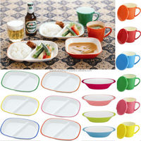 Light and is easy to use dinnerware made in japan china of large capacity for leisure