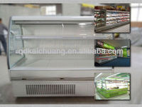 Commercial supermarket display fruits and vegetables refrigerator showcase