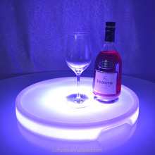 Portable wireless led plastic bar tray led serving tray portable laptop cushion tray table with led light LTT-WB08C