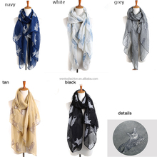 Wholesale summer voile cat print scarf