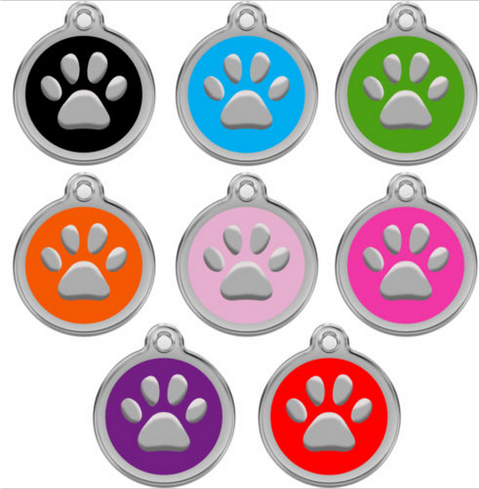 Dog Tags Pet Tags Engraved Designers Round