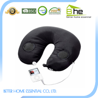 Popular bean bag travel neck music pillow