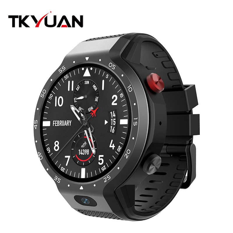 Oem Smart Watch Mtk6739 Quad Core Gps Wifi 4G Android 7.1 Round <strong>Touch</strong> <strong>Screen</strong> Smartwatch With Heart Rate Monitor Smart Watch