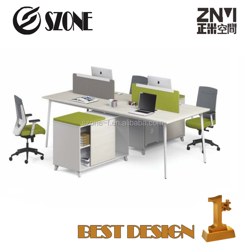 Modern 4 persons Workstation new design T-WA2428W/T WA2828W/computer desk