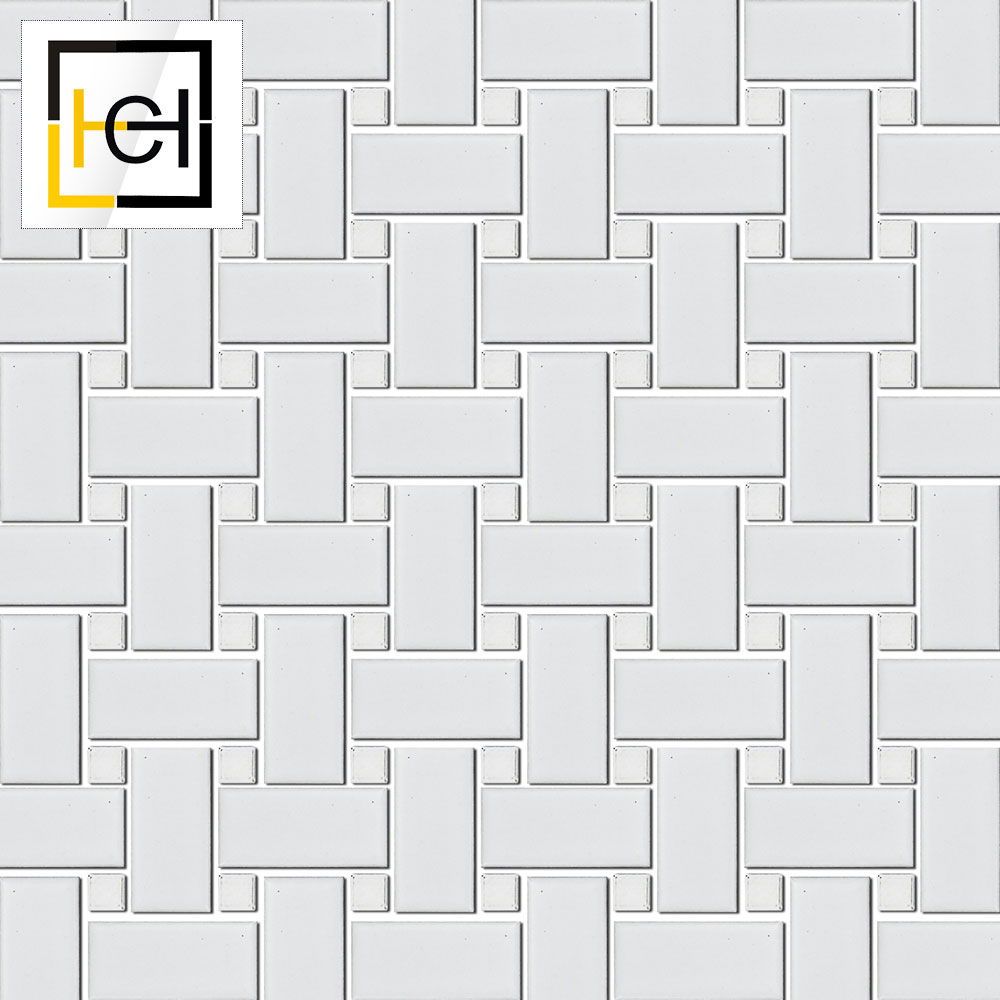 Competitive Prices New Shape Mosaic Thassos White Basket Weave Mosaic