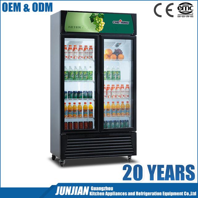 2 Door Beverage Refrigeratoryuanwenjun