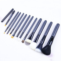 High quality 12pcs cosmetic kits makeup brushes sets animal hair makeup brush set for girls