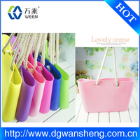 silicone rubber bag factory,Fashion Silicone Jelly Ladies Handbag