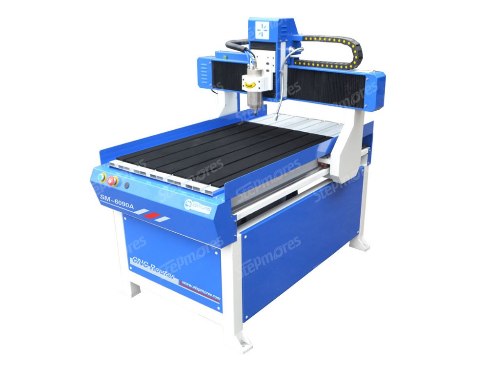 Square rails 2200w water cooled 3D engraving machine price hot sale cnc router SM6090