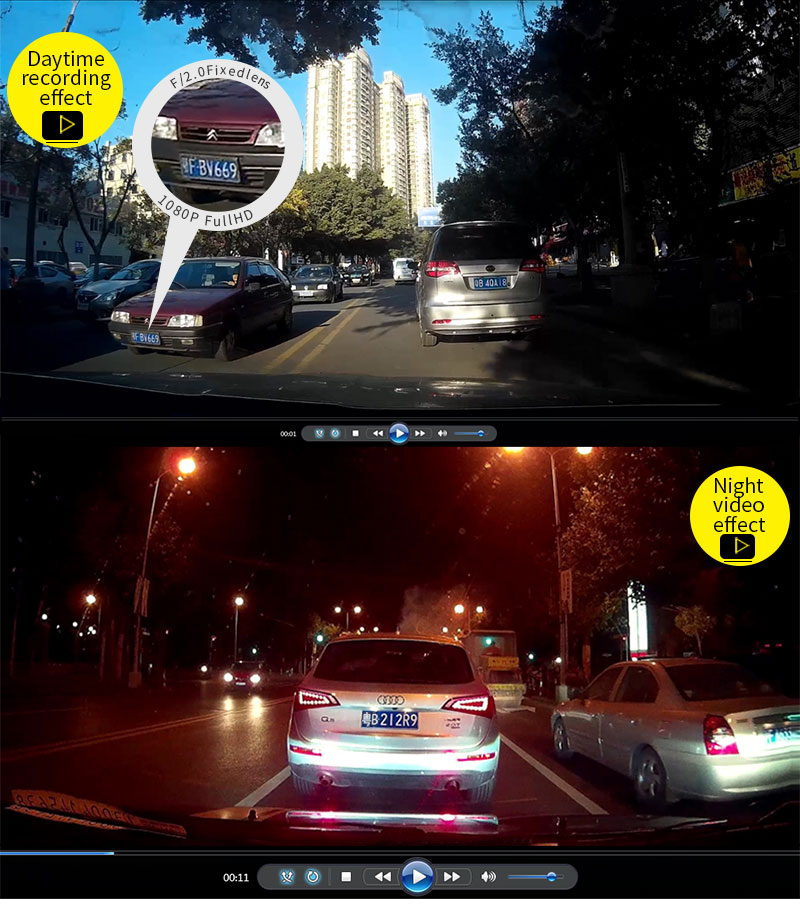 3.0 Inch M20T car dvr camera NTK 96655 1080p mini camera