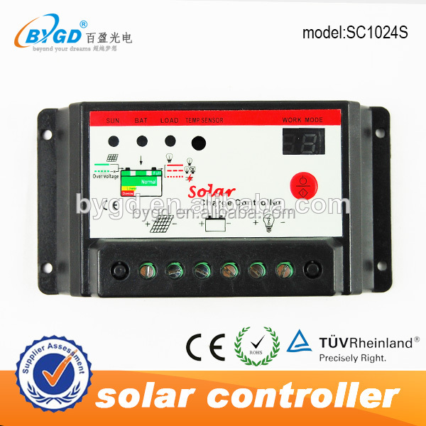 30A 12V/24V Auto Switch Solar Panel Battery Charge PWM Controller Regulator