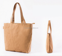 recycle washable Kraft Paper Tote Shopping Hand Bag