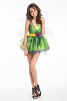 Sexy Woodland ELF Green Fairy Tinkerbell Dress Adult Womens Halloween CostumeS