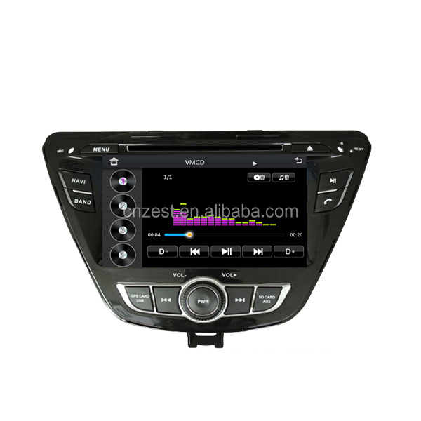 HD digital screen CAR DVD PLAYER FOR Hyundai 2014 Elantra WITH Built-in GPS navigation