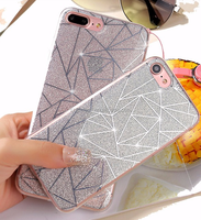 IMD TPU for i Phone 7 shiny case Mobile Phone Accessories Cover Custom Design 3D Sublimation IMD Printing Soft TPU Case