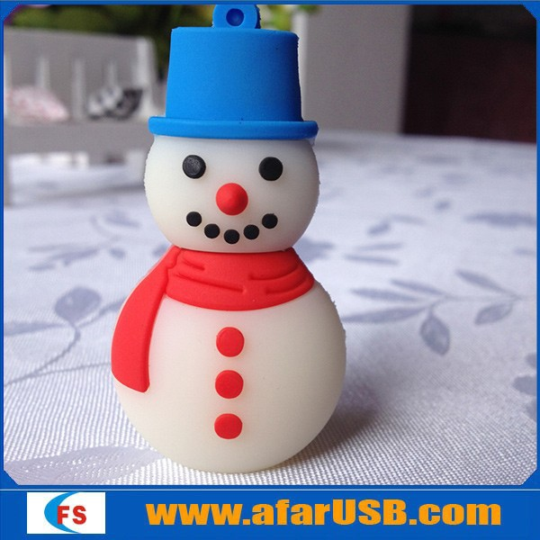2gb 4gb 8gb Snowman usb flash memory christmas gift cartoon usb flash drive