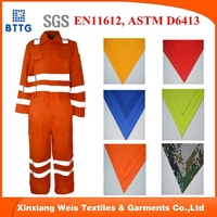 EN531 FRC anti flame suit men coverall mechanic workwear uniform safety wear