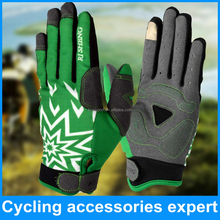 high quality bike full finger gloves with phone screen touch finger design