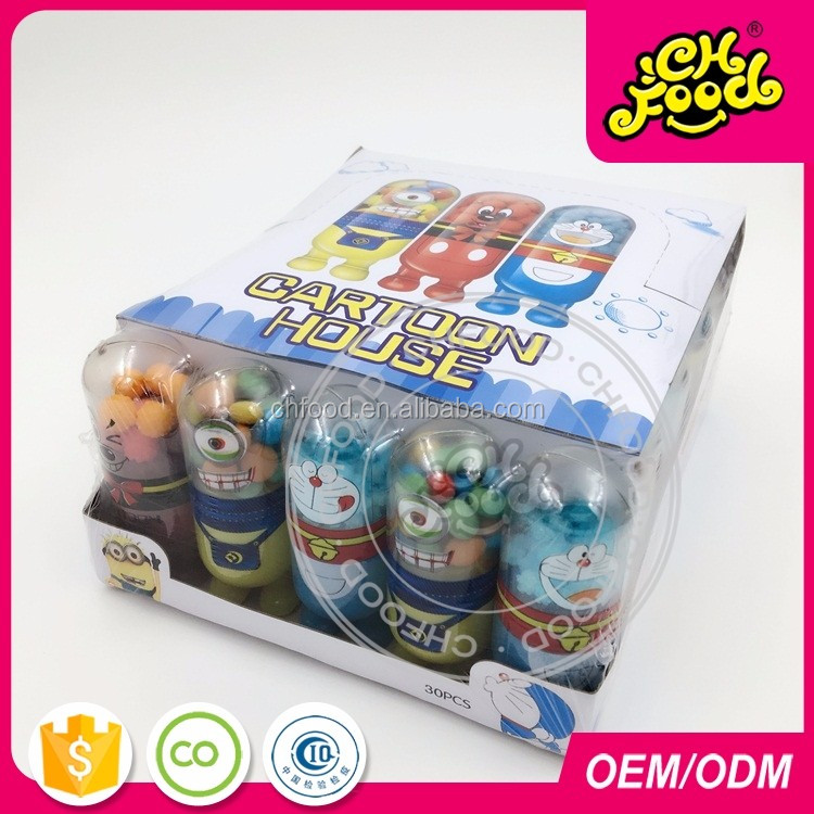Lovely Cartoon House Candy Toys With Mix Fruit Candy Sweets