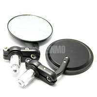 CNC Aluminum mirror , ADJUSTABLE AND ROTATION Motorcycle Bar End Mirrors For ZX CBR GSXR RI R6