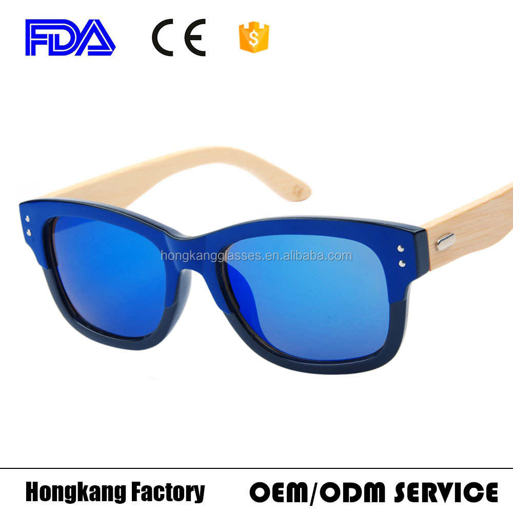 yiwu sunglasses manufacturers high quality Italy new design goggles bamboo arms eye wear 2017 hot sells