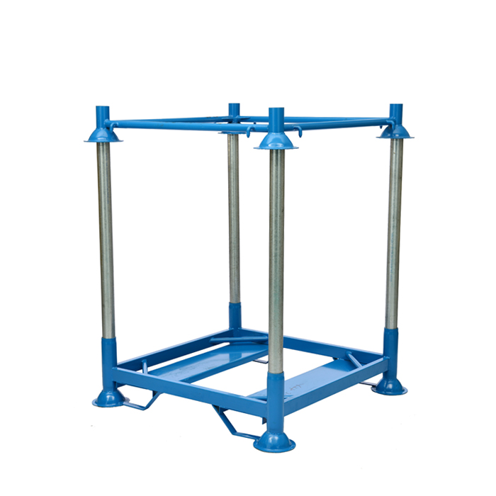 Warehouse storage detachable metal stacking pallet big bag <strong>rack</strong> with posts