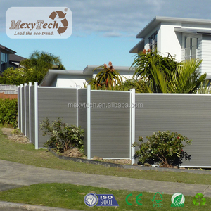 Euro systle wood +aluminum post fences simple installation design composite fence wpc fencing in China