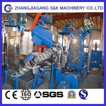 Waste pet bottle recycling machine